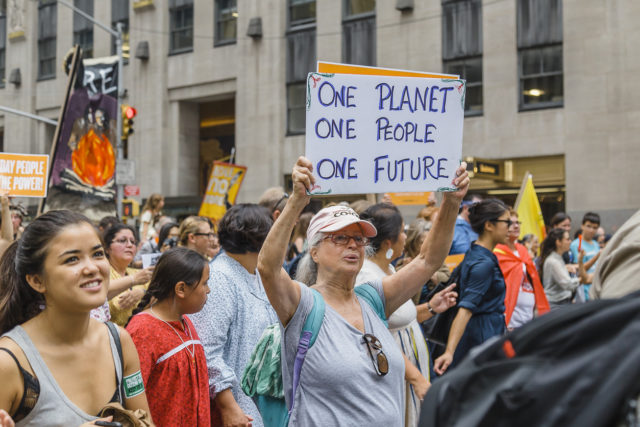 Huelga por el cambio climático en Nueva York (istock)