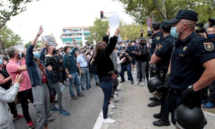Protestas en Vallecas contra las medidas de Ayuso (Gtres)